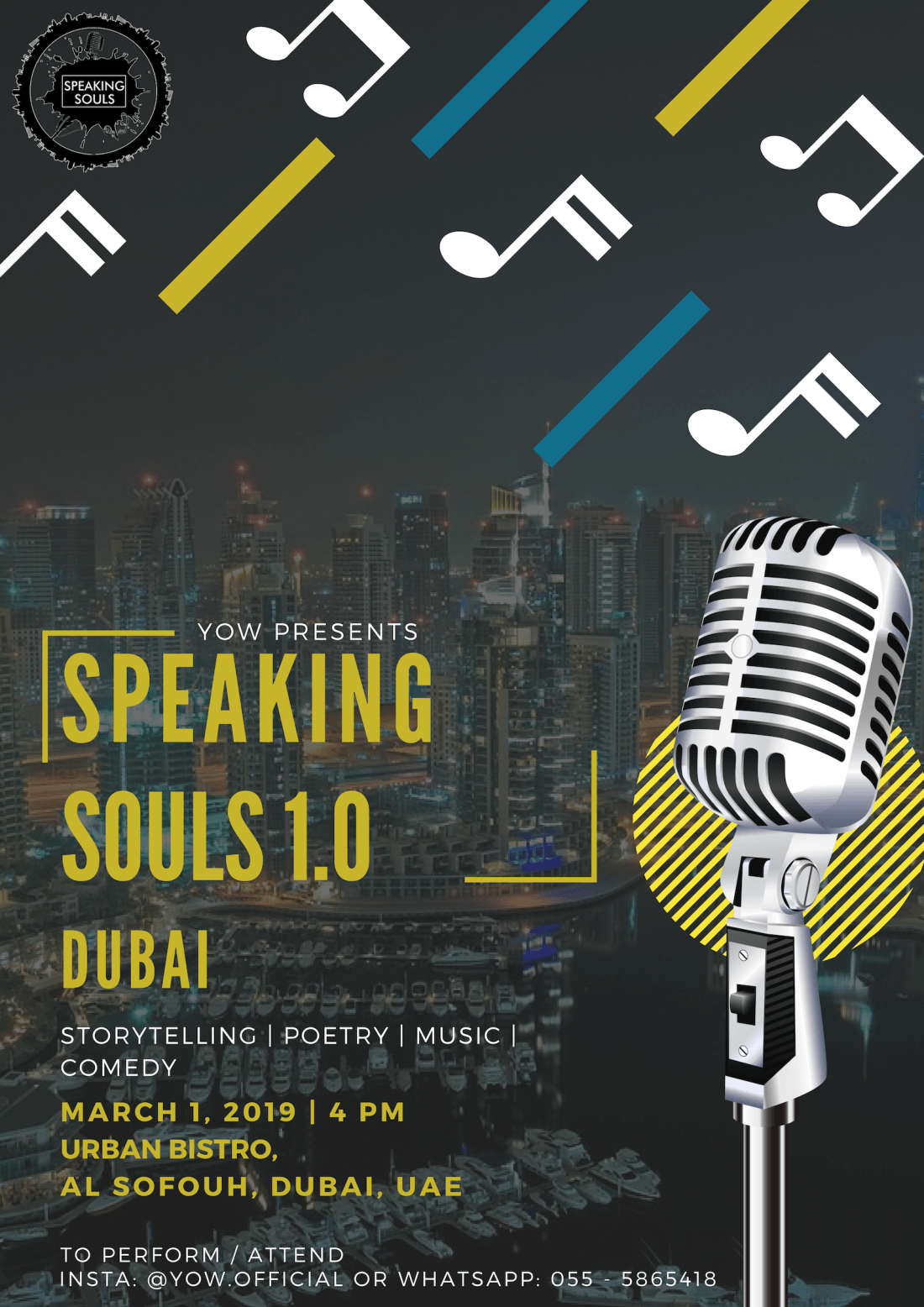 Speaking Souls 1.0 Dubai  Open Mic and Spoken Word