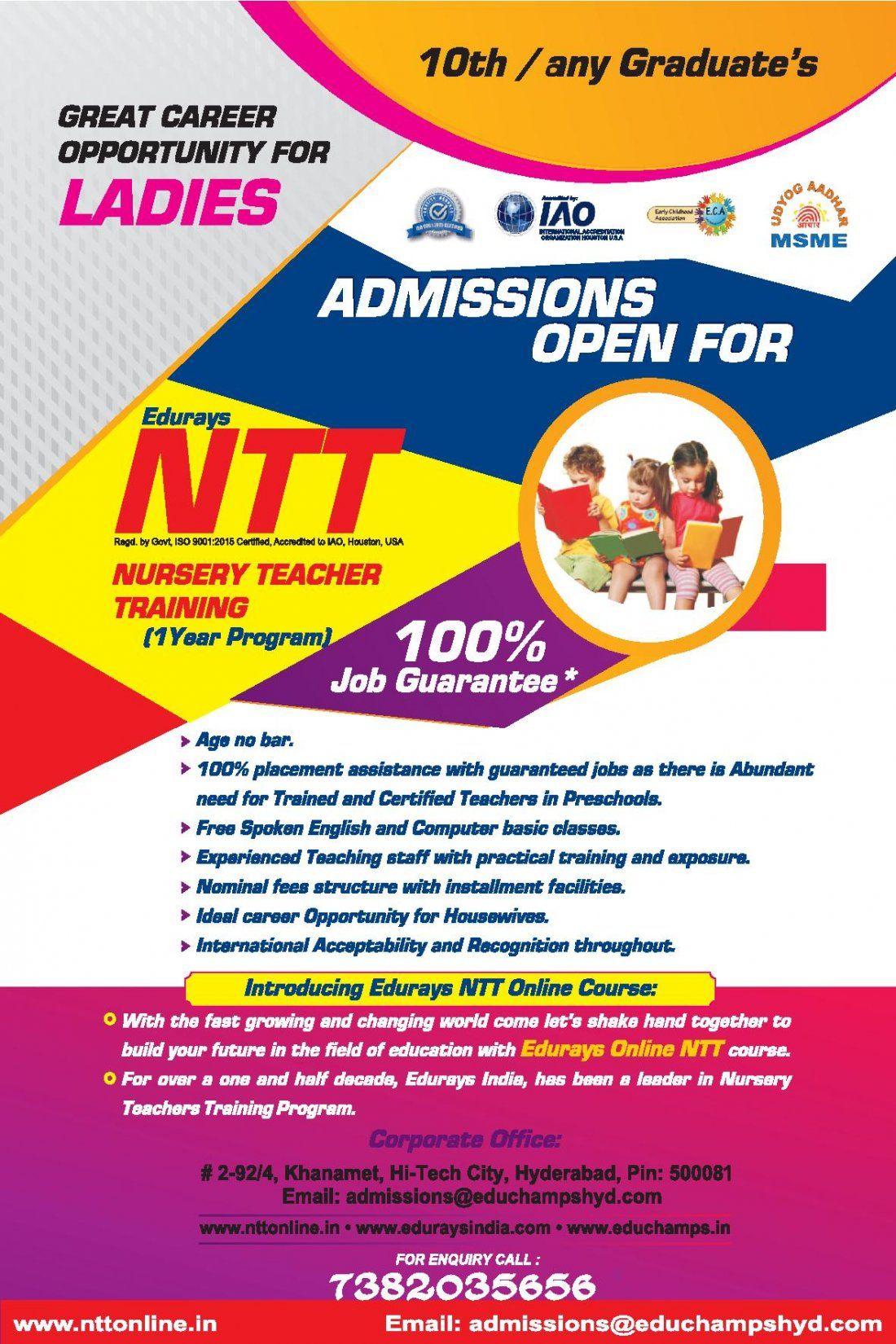 NTT (Nursery Teaching Training program)