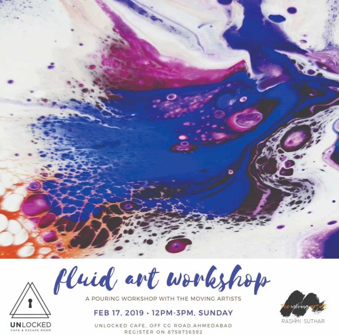 Fluid Art Workshop by The Moving Artist