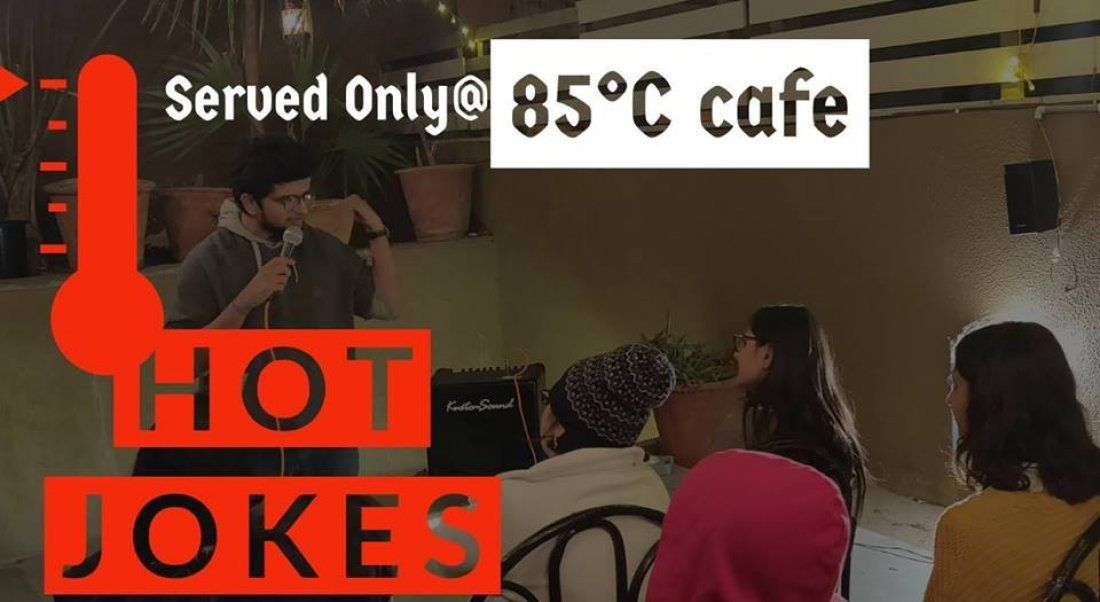 Hot Jokes at cafe 85 Degree C