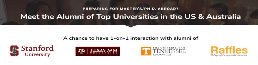 [Study Abroad Workshop  Chennai] Meet the Alumni of Top Universities in the US & Australia