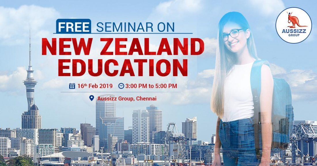 Free Seminar on New Zealand Education at Aussizz Group Chennai