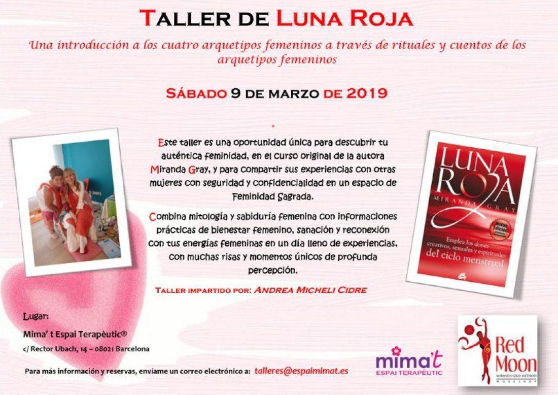 Taller de Luna Roja de Miranda Gray por Andrea Micheli