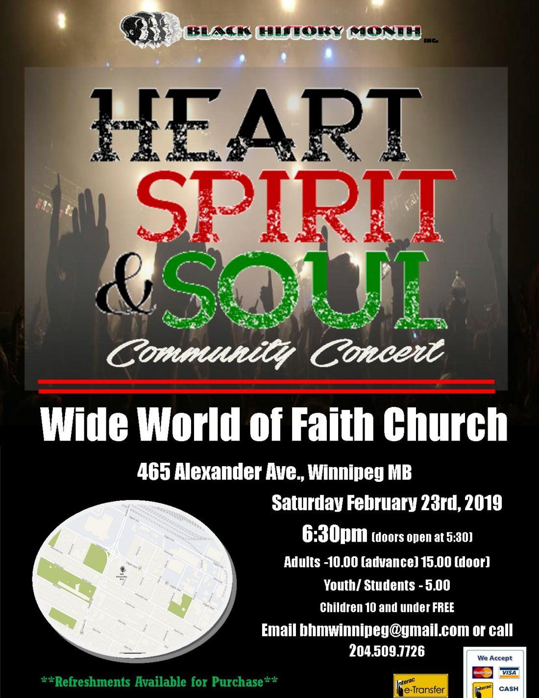 BHM 2019 Heart Spirit and Soul Community Concert