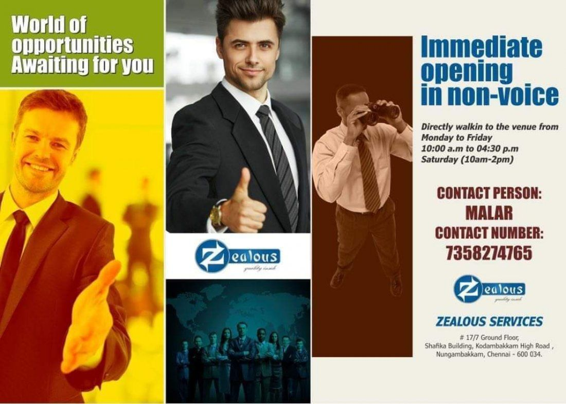 Mega Opening for freshers in BPO Non Voice Process