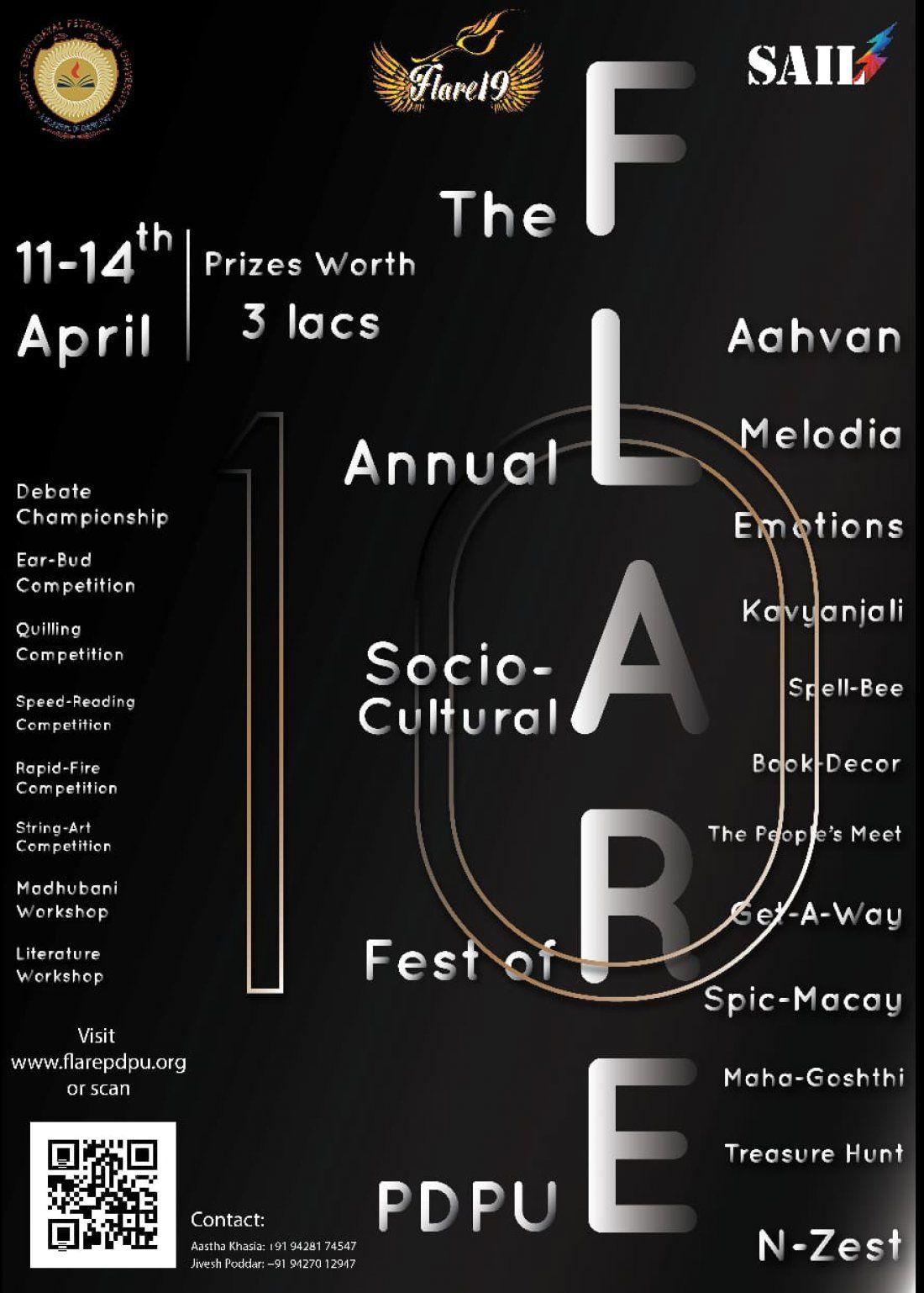 FLARE19 PDPU - The Annual Socio-Cultural Fest of PDPU