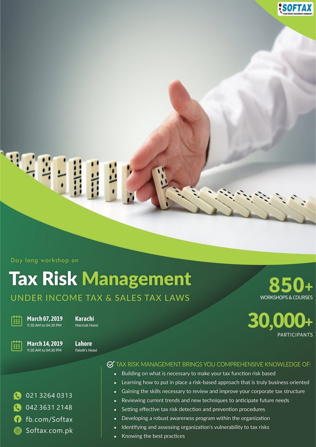 Day long workshop on Tax Risk Management UNDER INCOME TAX & SALES TAX LAWS