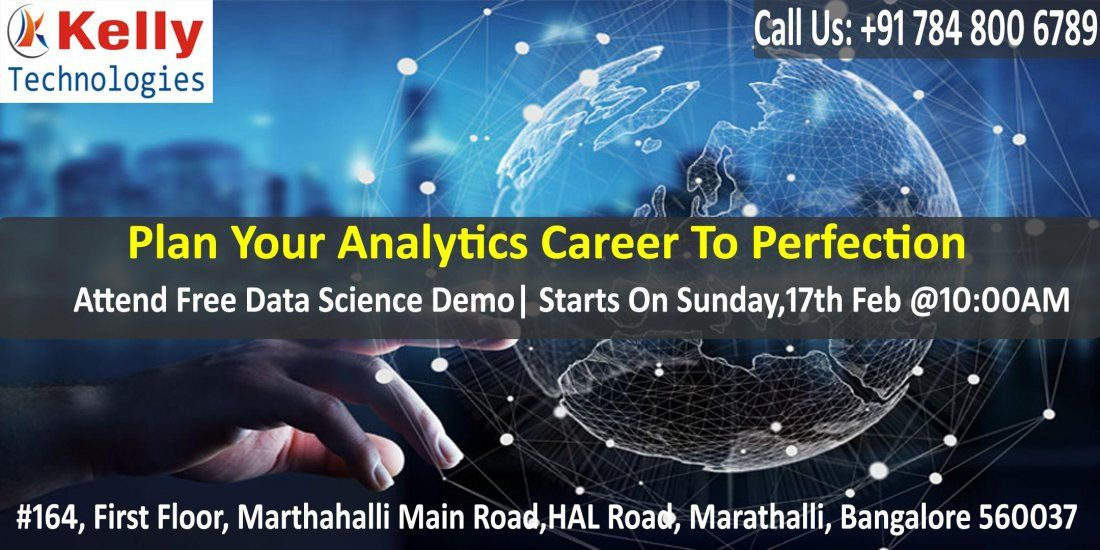 Free Demo On Data Science At Kelly Technologies Scheduled On 17th Feb 10 AM Bangalore