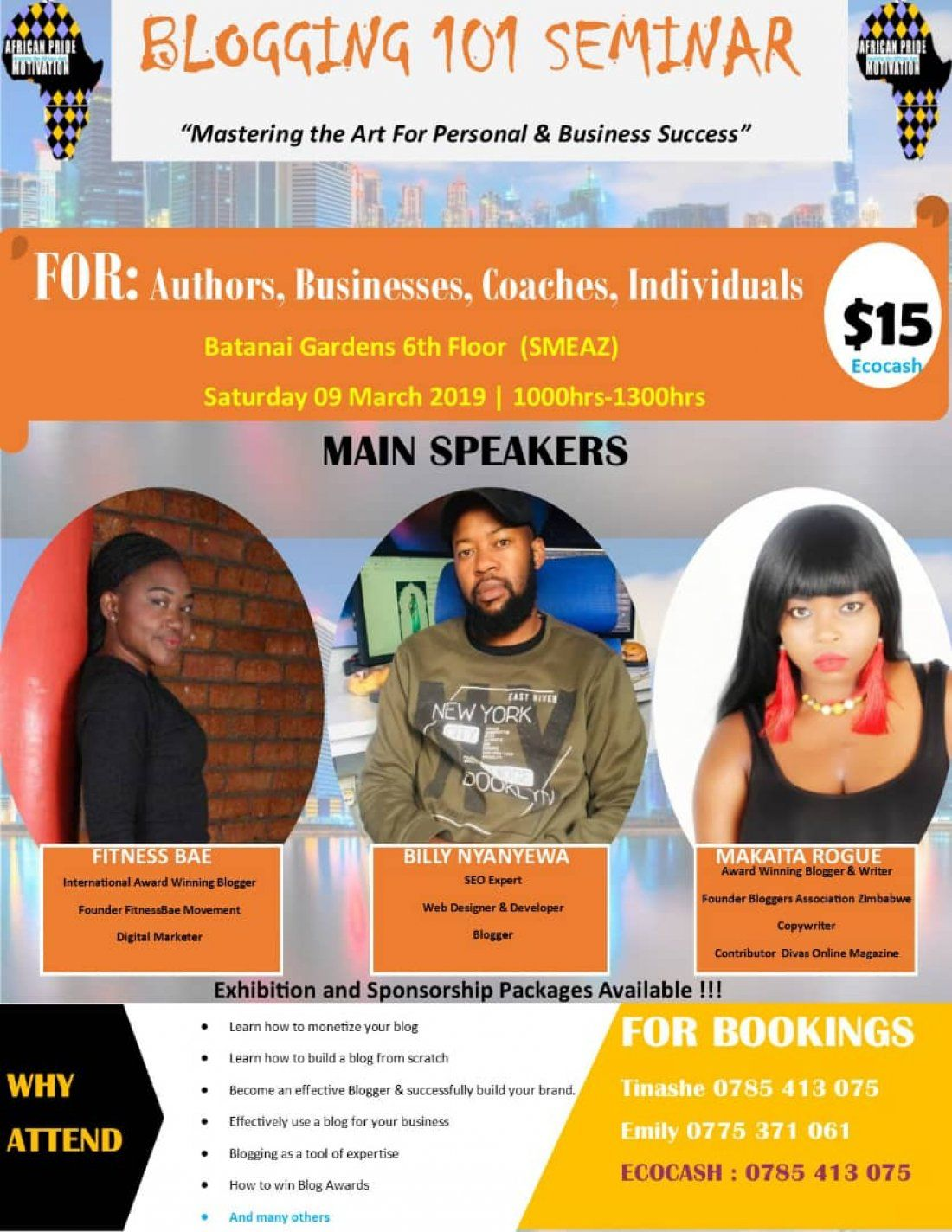 Blogging 101 Seminar