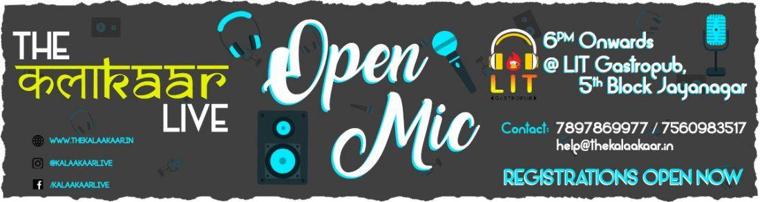 The Kalaakaar Open Mic