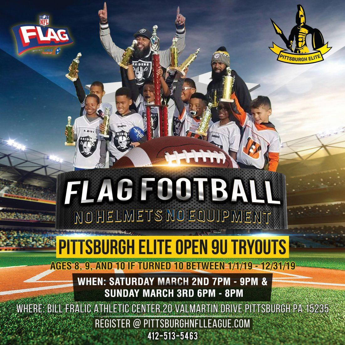 PITTSBURGH ELITE FLAG FOOTBALL TRYOUTS