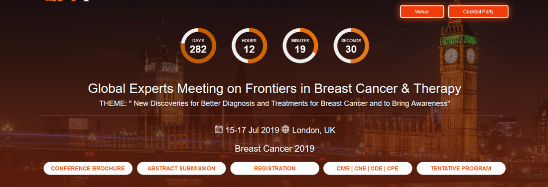 Breast Cancer Conferences 2019 UK at Park Inn by Radisson