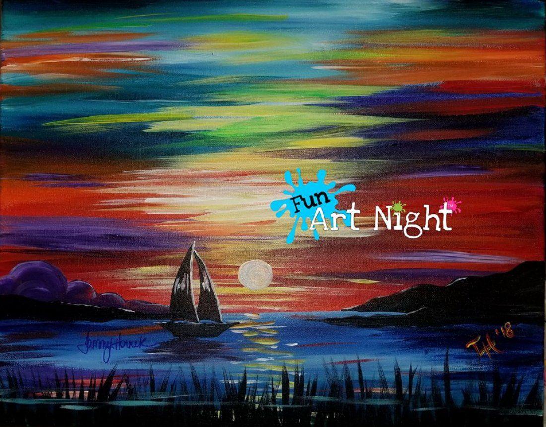 Fun Art Night Sailors Delight at Lake Monticello