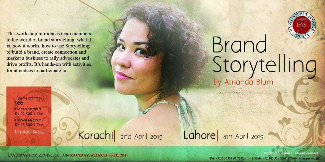 Brand Storytelling - A workshop by Pakistan Advertisers Society