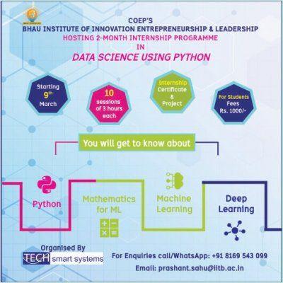 Internship program in Data Science using Python