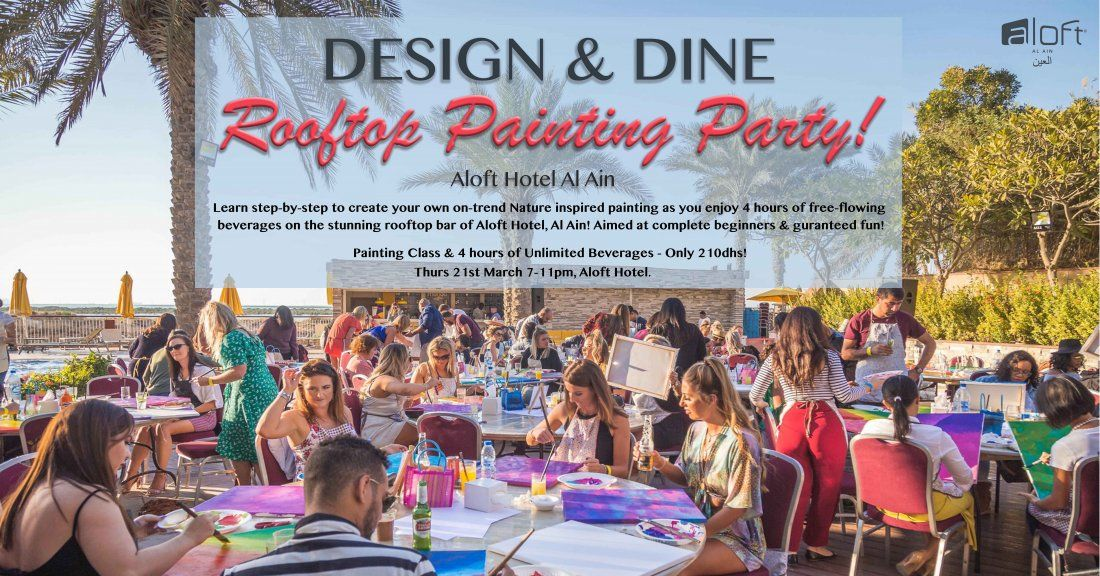 Design & Dine - Rooftop Painting Party