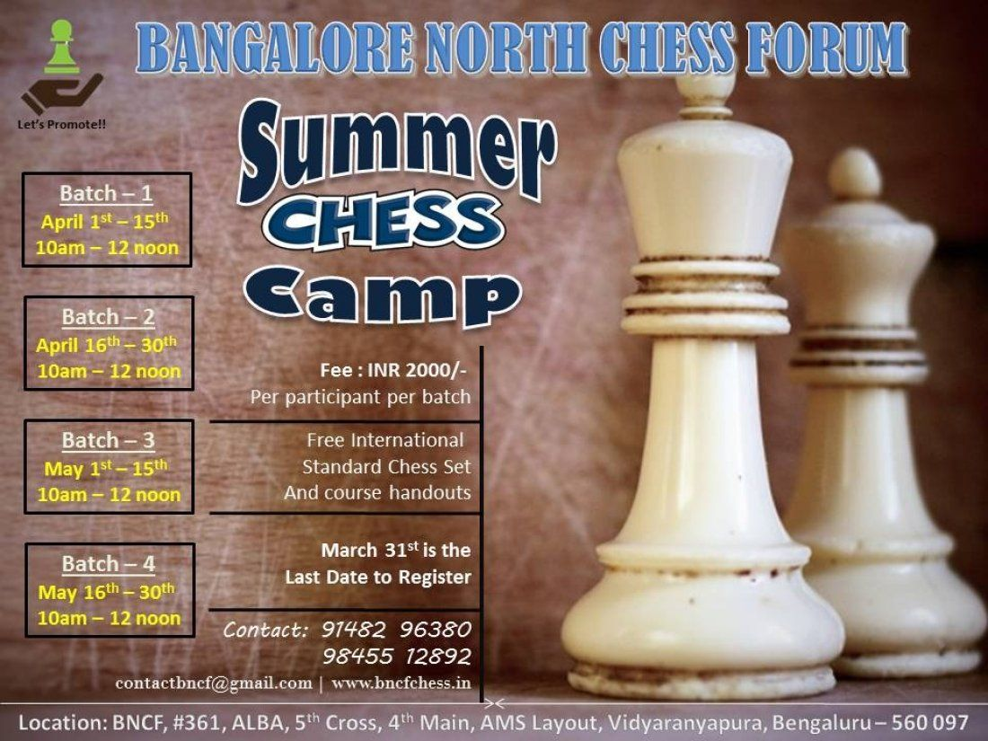 BNCF Summer Chess Camp