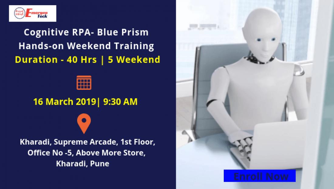 RPA Blue Prism Masterclass  Weekend  Saturday 16 March 2019  930 AM  Kharadi PUNE