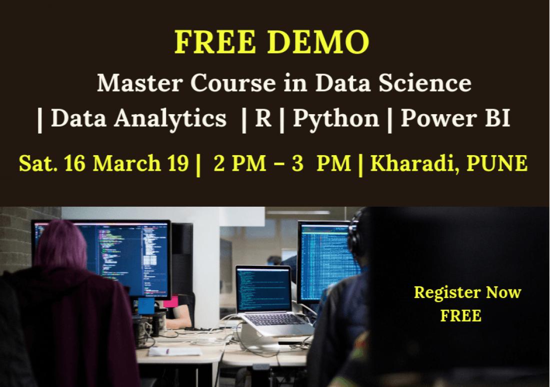 Free Demo on Data Science  Machine Learning  Data Analytics  16 Mar. 19  2 PM  Kharadi Pune