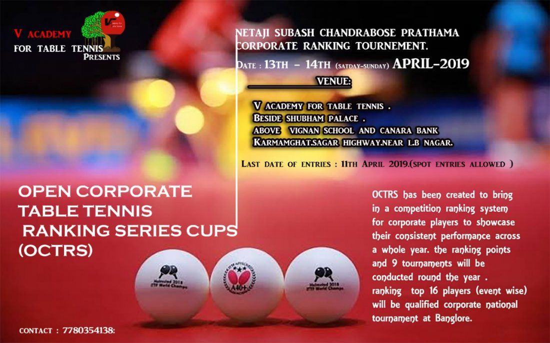 Open corporate state table tennis ranking series cup(OCTRS)