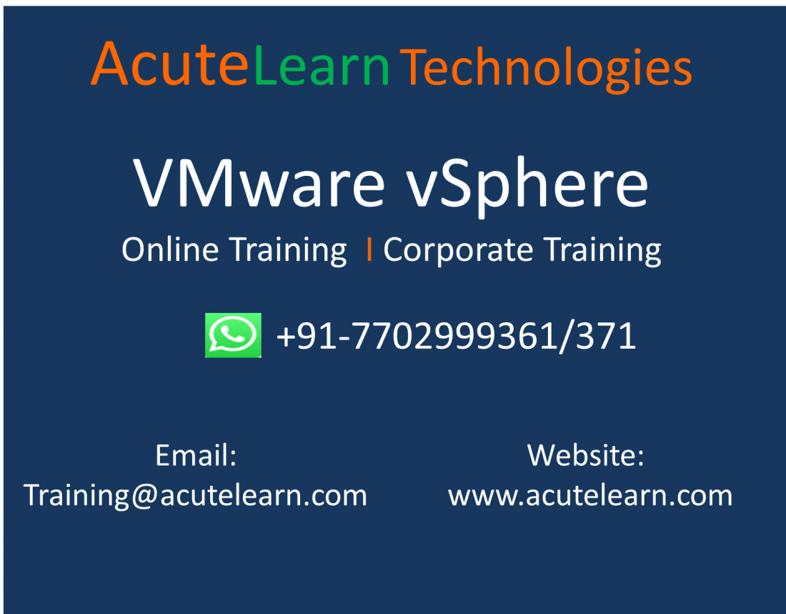 Best VMware vSphere Training Institute in Hyderabad--AcuteLearn Technologies.