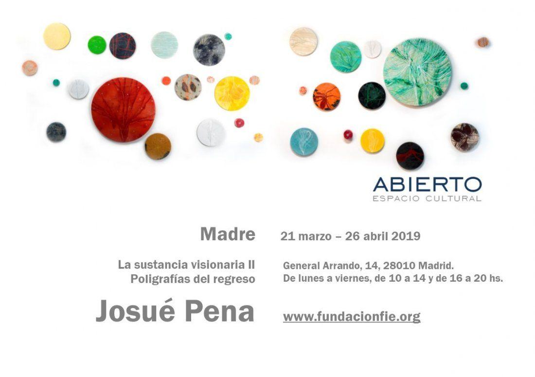 Josu Pena expone en ABIERTO Madre. La sustancia visionaria II. Poligrafas del regreso.