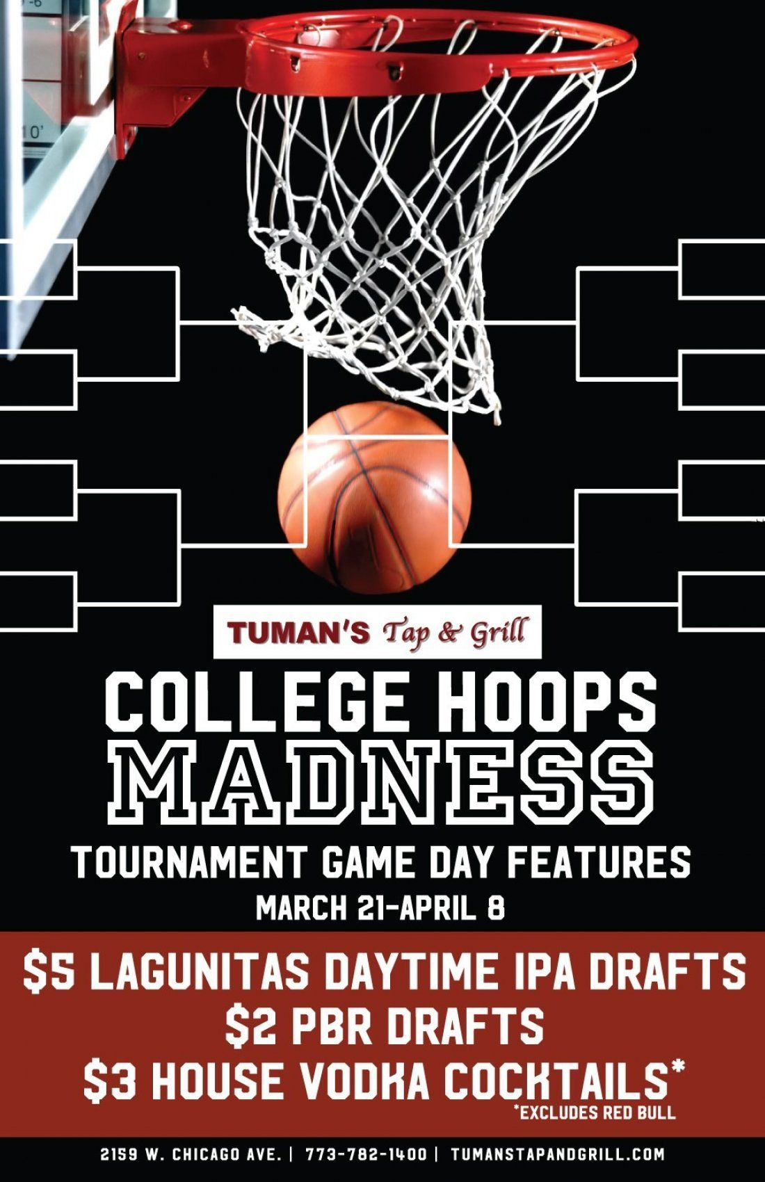 College Hoops Madness at Tumans Tap & Grill