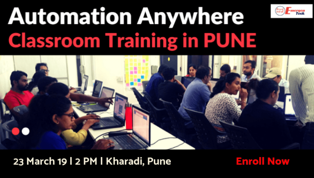 RPA Automation Anywhere Classroom Training  23 March 2019  2 PM  Kharadi  PUNE