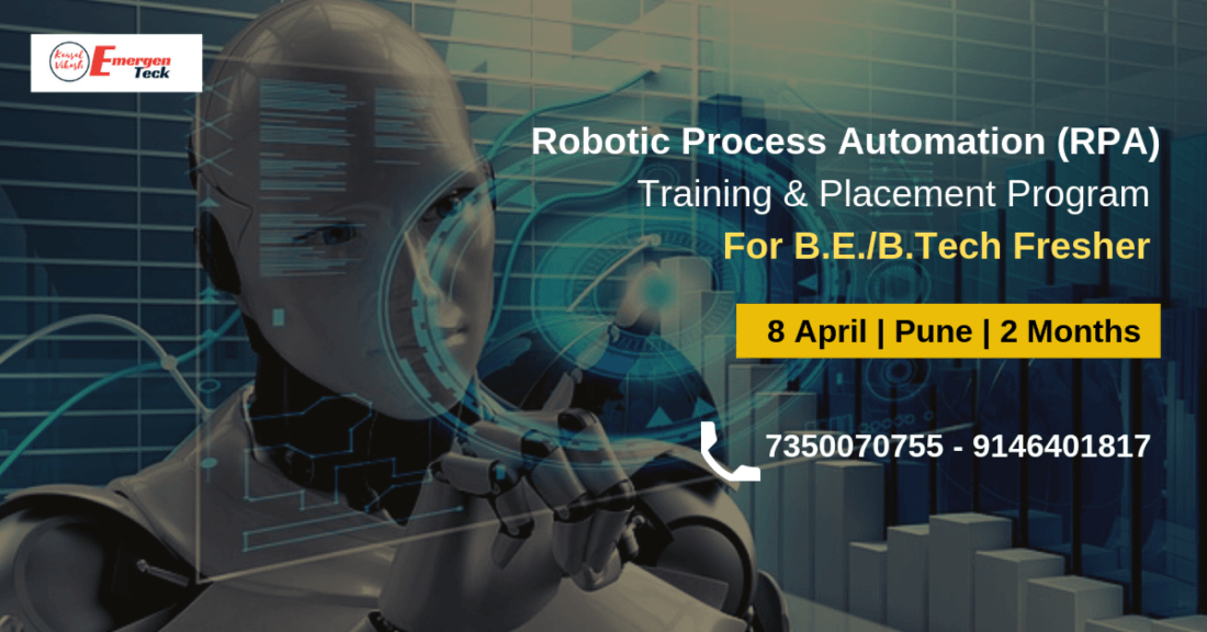 Robotic Process Automation (RPA) Training & Placement Program for B.E. B.TechMCA  Fresher  Pune