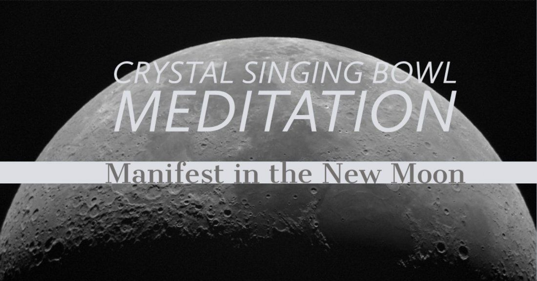 Salt Room New Moon Crystal Singing Bowl Meditation