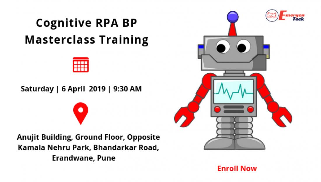 Cognitive RPA Blue Prism Training  Weekend  Saturday 6 April 19  930 AM   Bhandarkar Rd PUNE