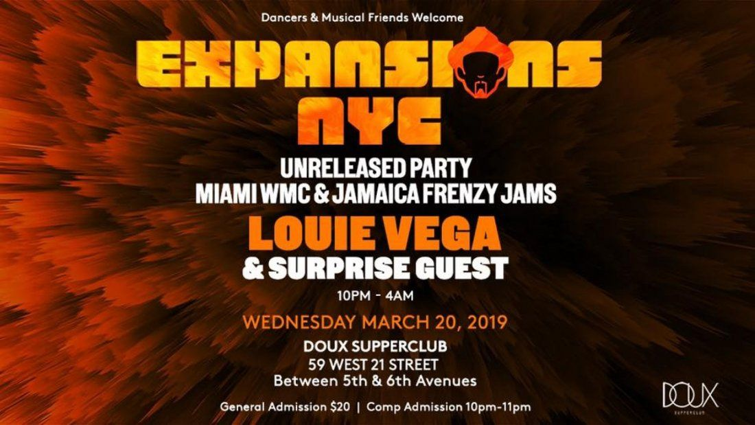 Expansions NYC Unreleased Party wDJ Louie Vega & more