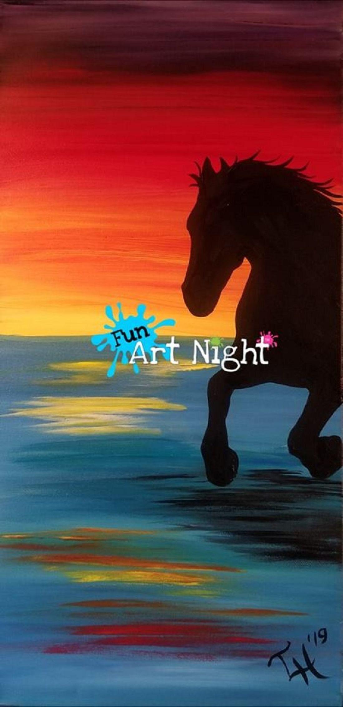 Kids Art Night Sunset Stampede in Waynesboro