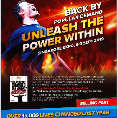 Unleash the Power Within 2019 &quotLive in Singapore&quot
