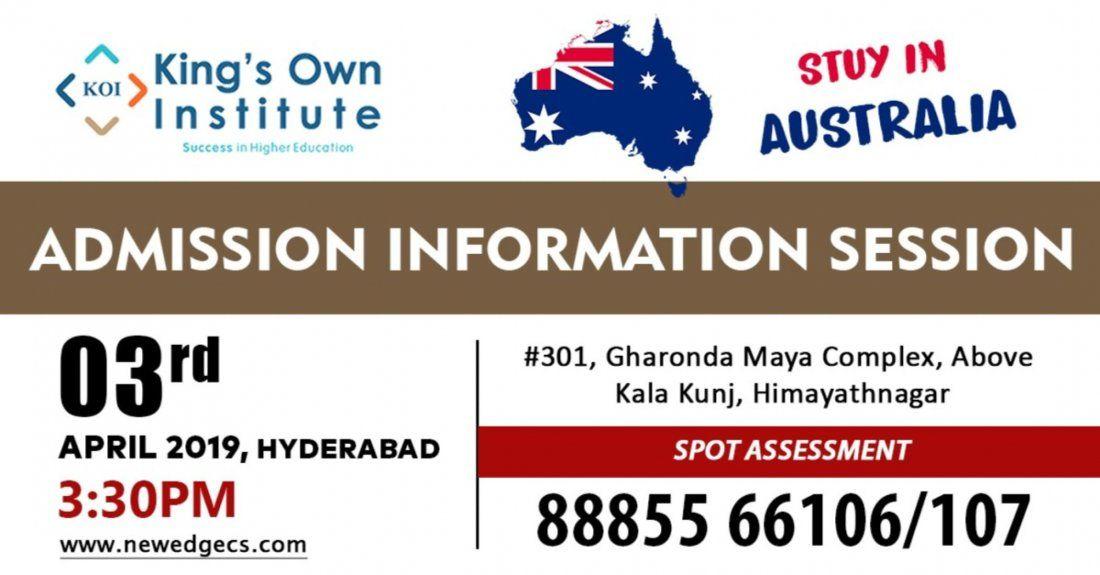 Australia Education Fair in Hyderabad Himayatnagar April 2019
