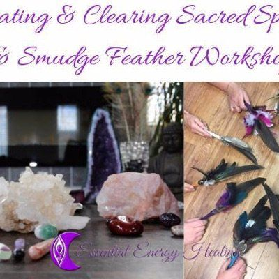 Smudge Feather Creating &amp Clearing Sacred Space Workshop