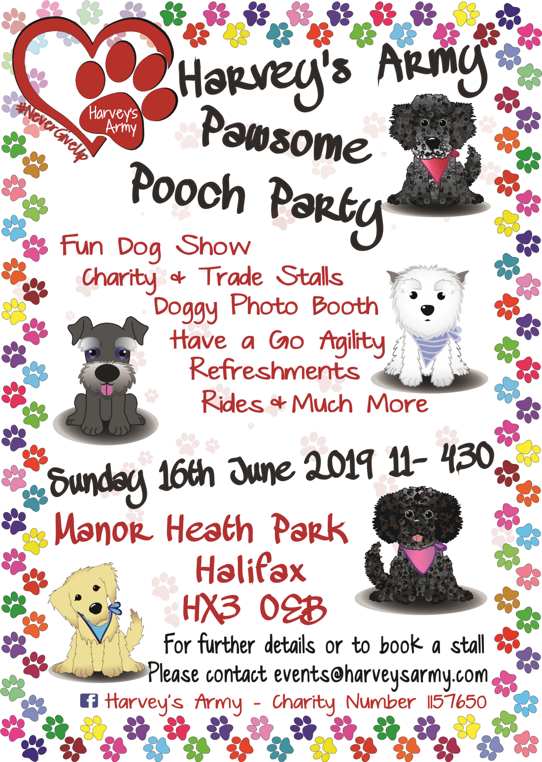 Harveys Army Pawsome Pooch Party 2019