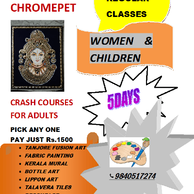 ART &amp CRAFT CRASH COURSES  CHROMEPET