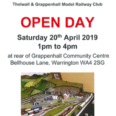 OPEN DAY 2019 at the Thelwall and Grappenhall Model Railway Club