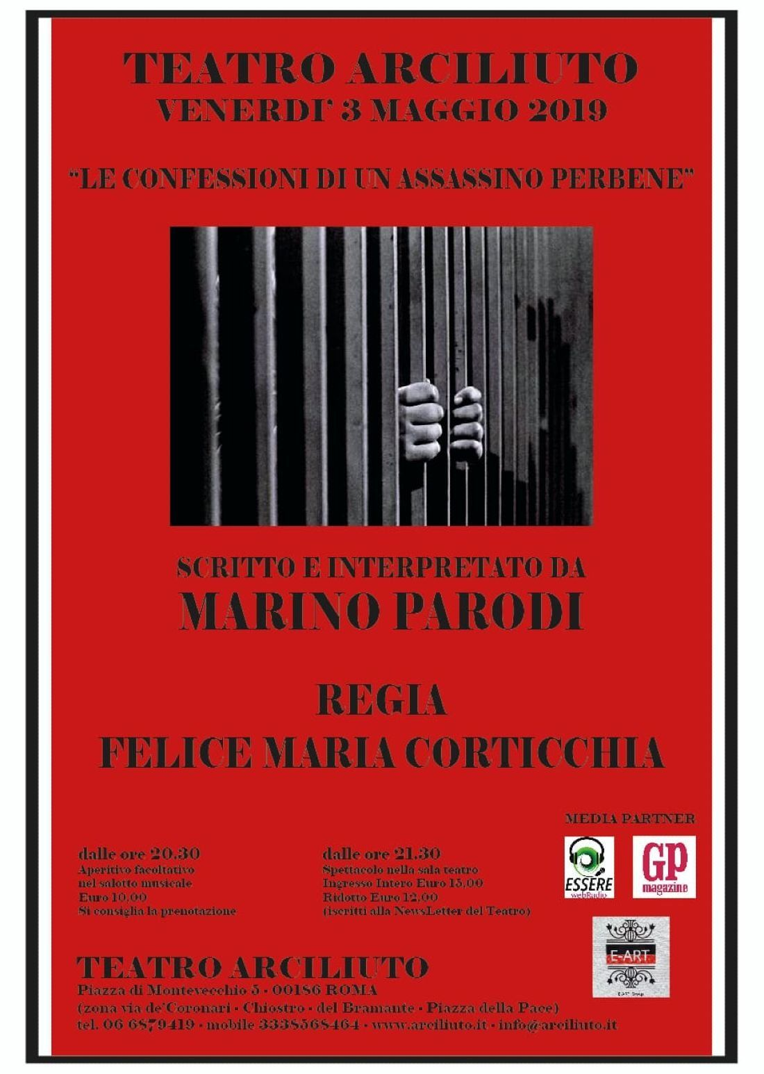 Le confessioni di un assassino perbene di e con Marino Parodi regia Felice Corticchia
