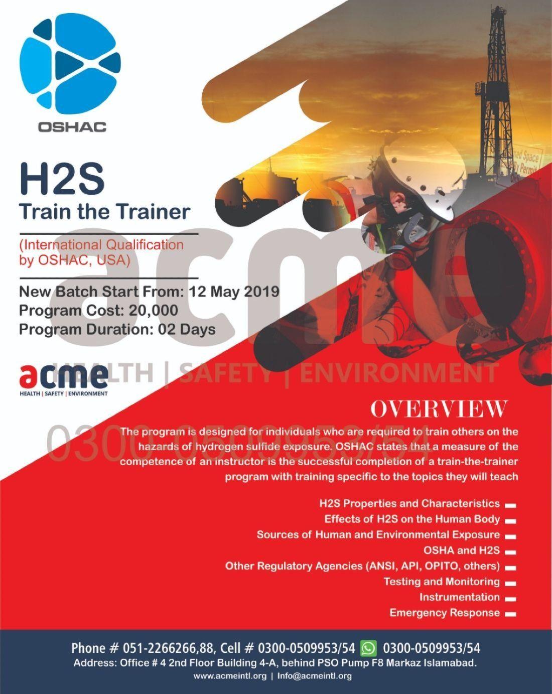 OSAHC H2S Train the trainer