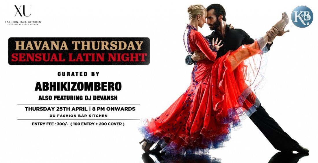 Sensual Latin Thursday Night At XU Located at The Leela Palace