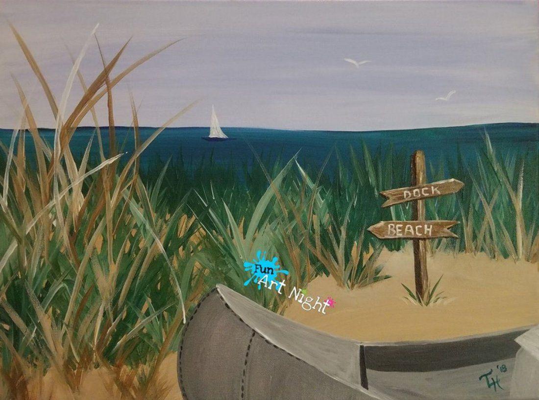 Fun Art Night Sandy Paradise in Stuarts Draft