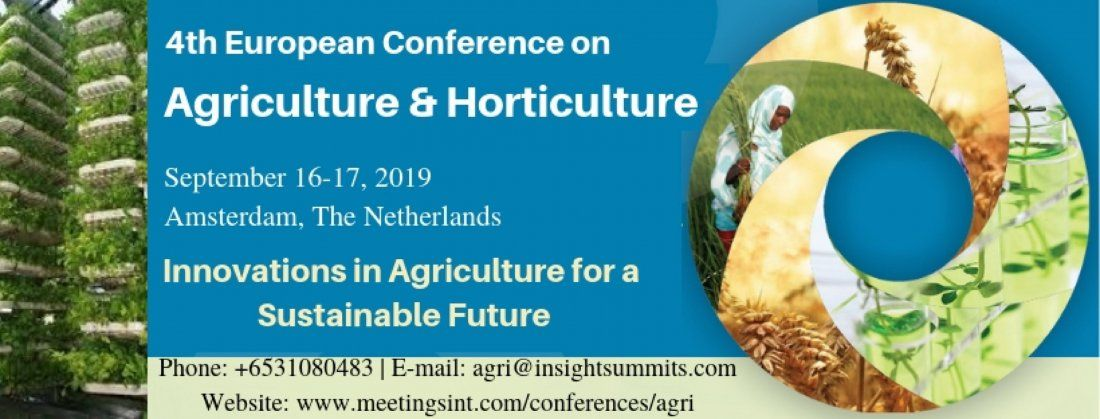 4th European Conference on Agriculture & Horticulture at Amsterdam