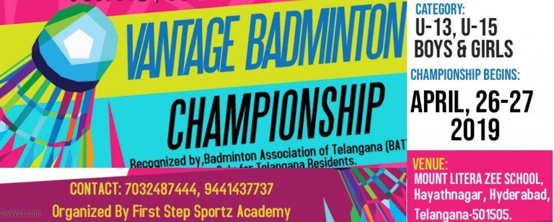 Vantage Badminton Championship 2019