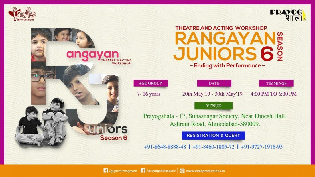 Rangayan Junior - Theatre & Acting Workshop for Kids (Season 6)