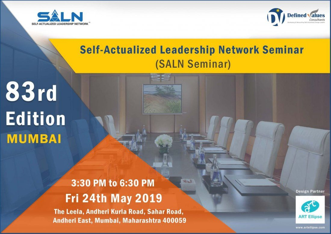 Self-Actualized Leadership Network Seminar- 83rd Edition