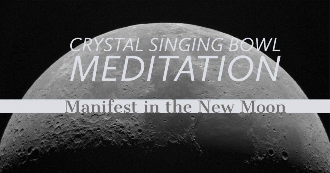 Salt Room New Moon Crystal Singing Bowl Meditation