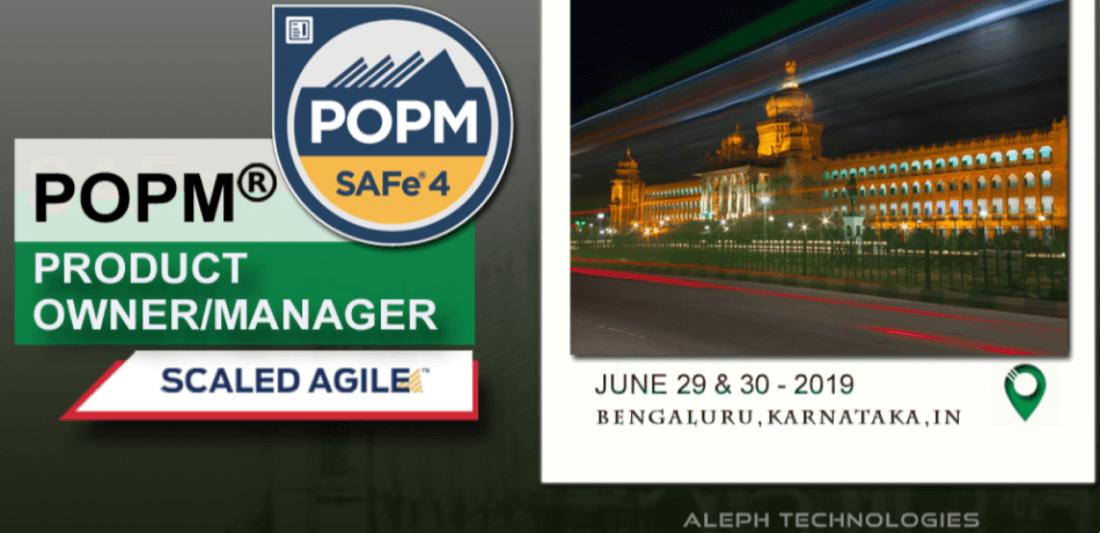 Product OwnerManager(POPM)  June 29th  30th  2019  Bengaluru  Karnataka  IN