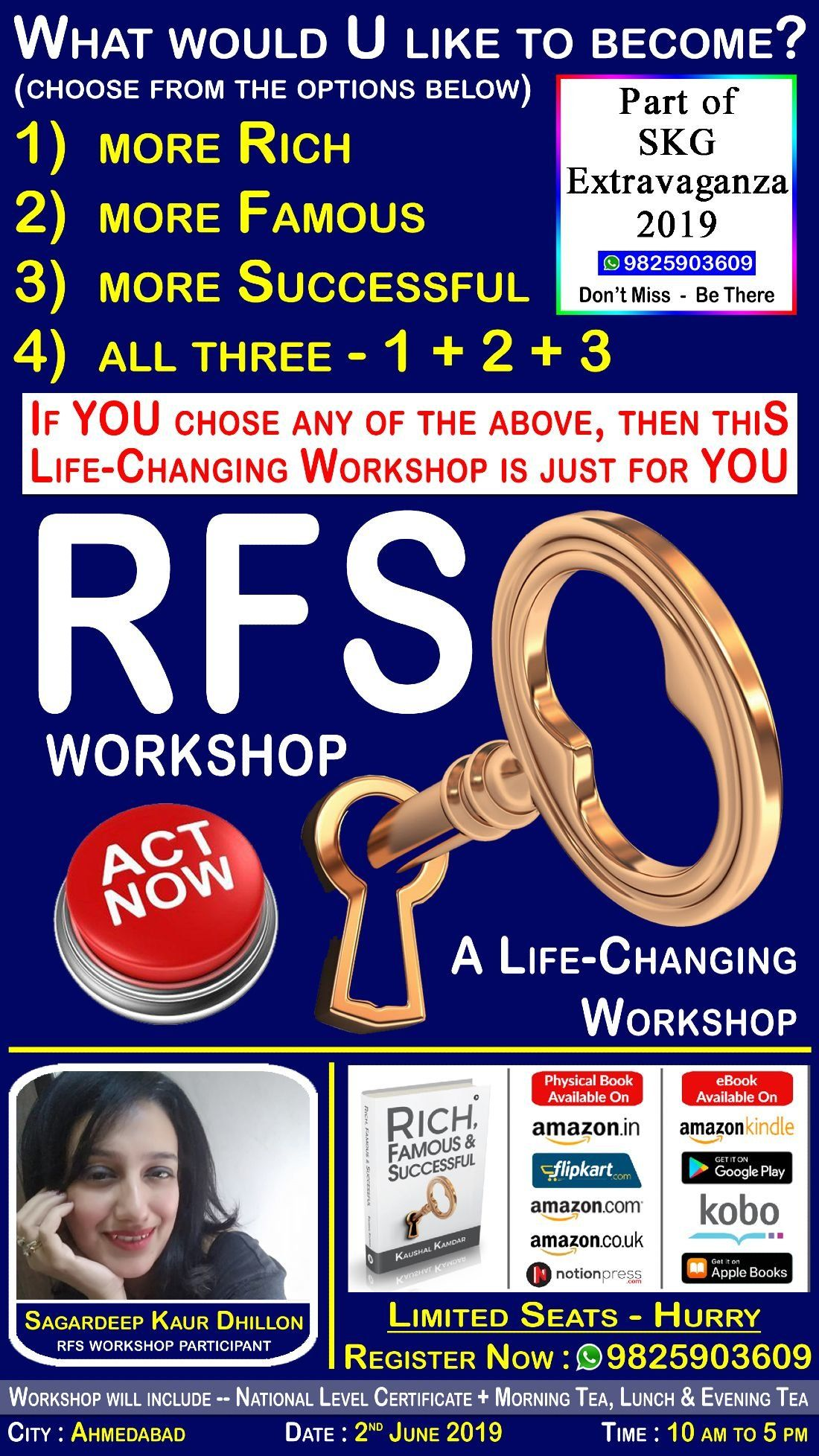 RFS Workshop -- Sure-Shot Formulae to become RFS - Rich Famous and Successful